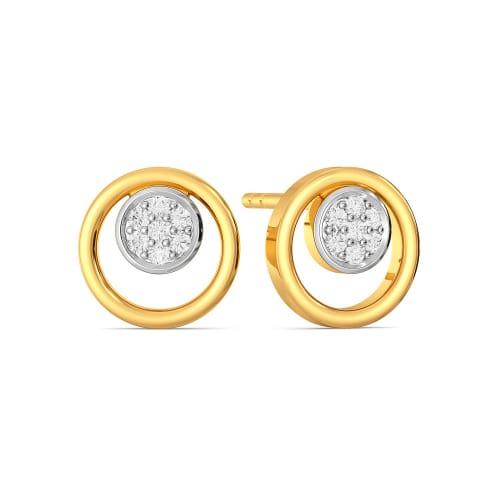 Double Sphere Diamond Earrings