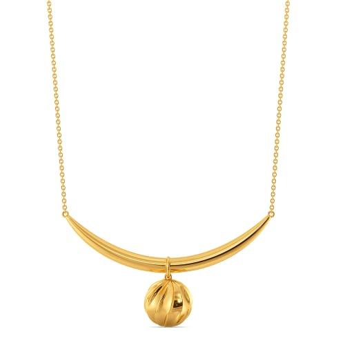 Sphere Haven Gold Necklaces
