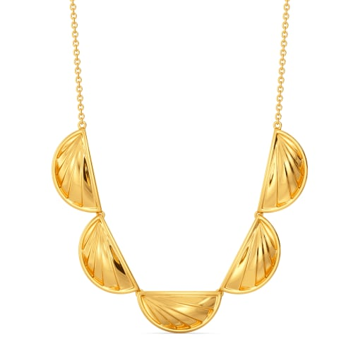 Pleats So Puffed Gold Necklaces