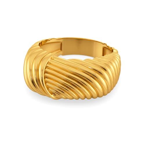 Volume Versions Gold Rings