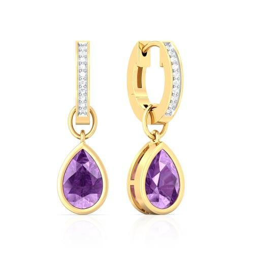 Plum Divine Diamond Earrings