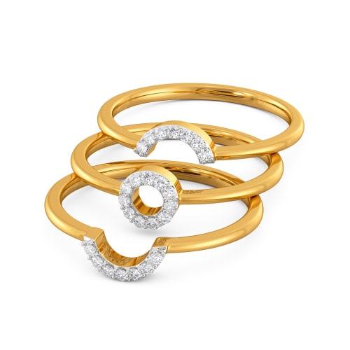 Candid Contours Diamond Rings