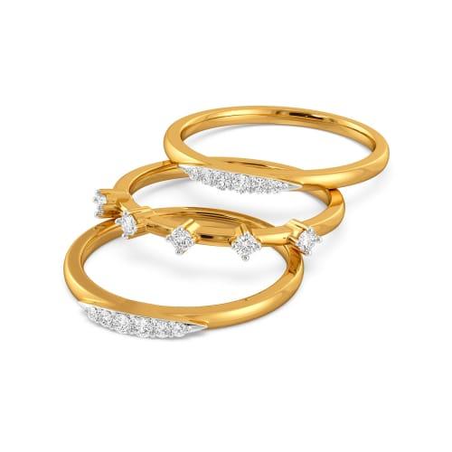 Treble Tryst Diamond Rings