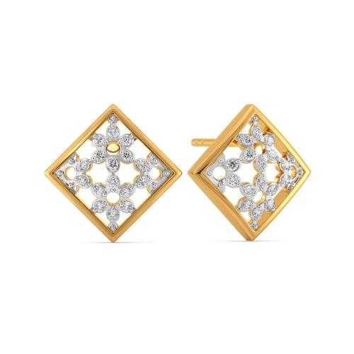 A Lacy Place Diamond Earrings