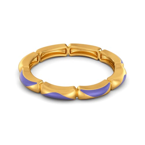 Lilac Allure Gold Rings