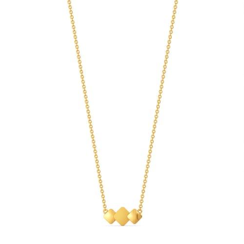 Matt Drop  Gold Necklaces