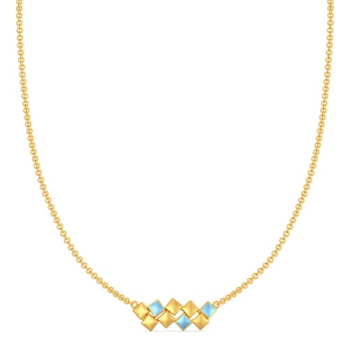 Ice Cubes Gold Necklaces