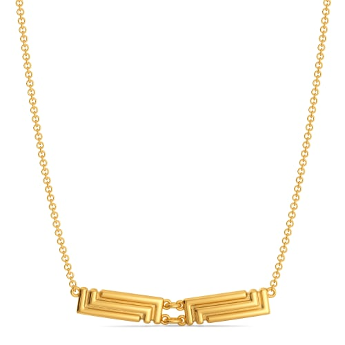 Puffer Lite Gold Necklaces