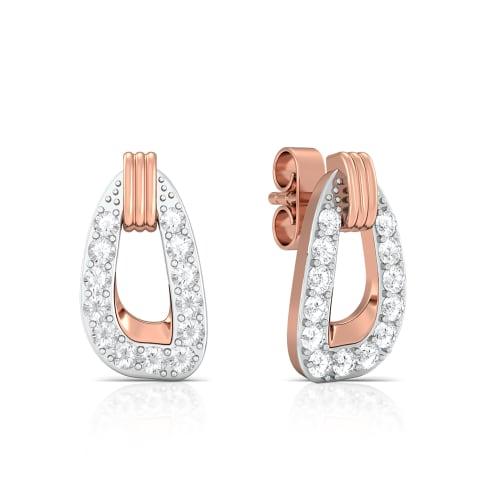 Tickled pink Diamond Earrings