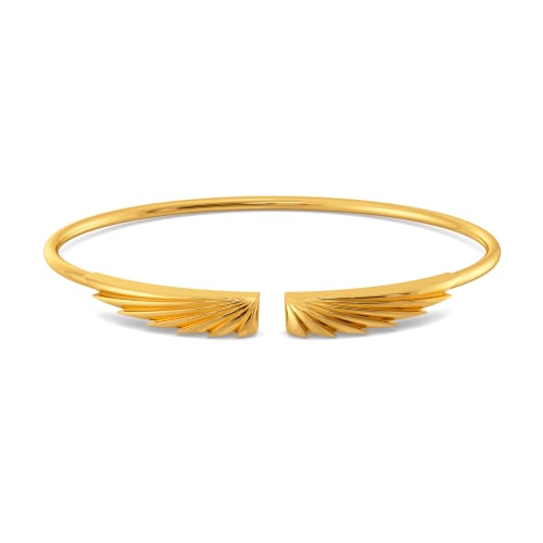 Fan of Pleats Gold Bangles