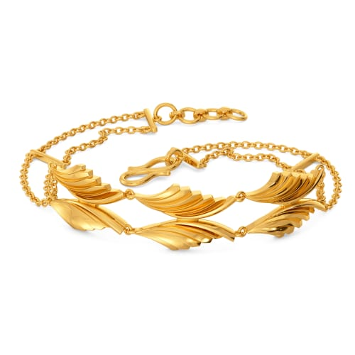 Pleats on Fleek Gold Bracelets