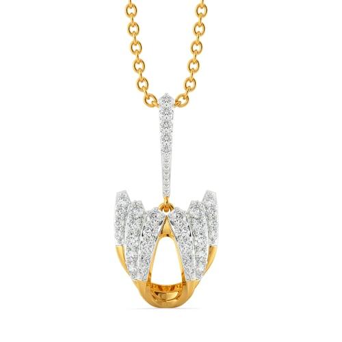 Crisp Crease Diamond Pendants