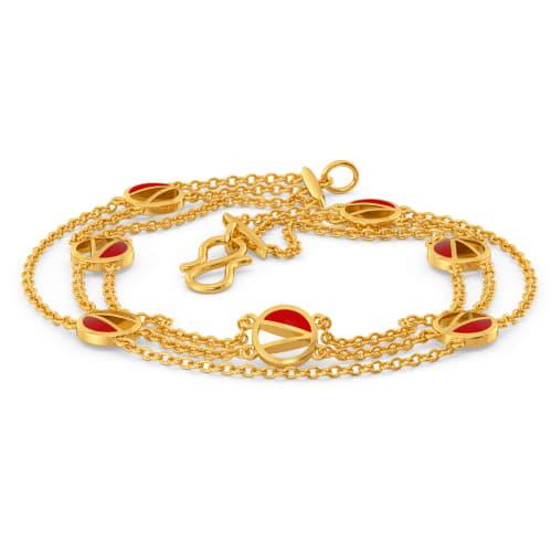 The Scarlet Sun Gold Bracelets