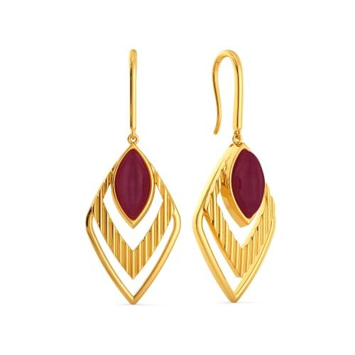 Reign O Ruby Gemstone Earrings
