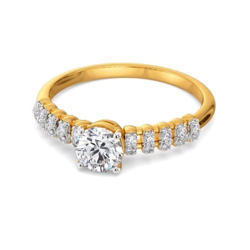 Moon N Back Diamond Rings