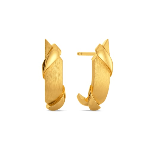 Elevated Edge Gold Earrings
