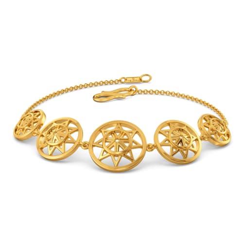 Serene Drapes Gold Bracelets