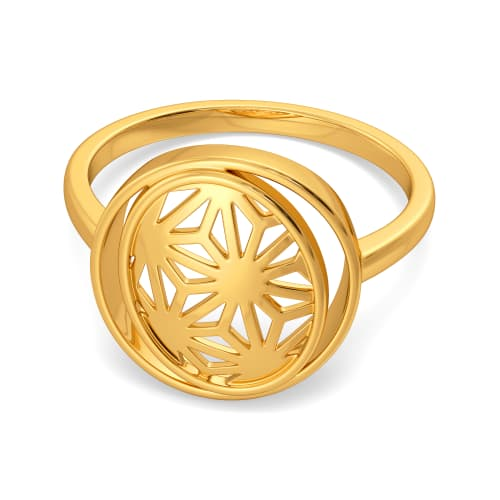 Lacy Reveal Gold Rings