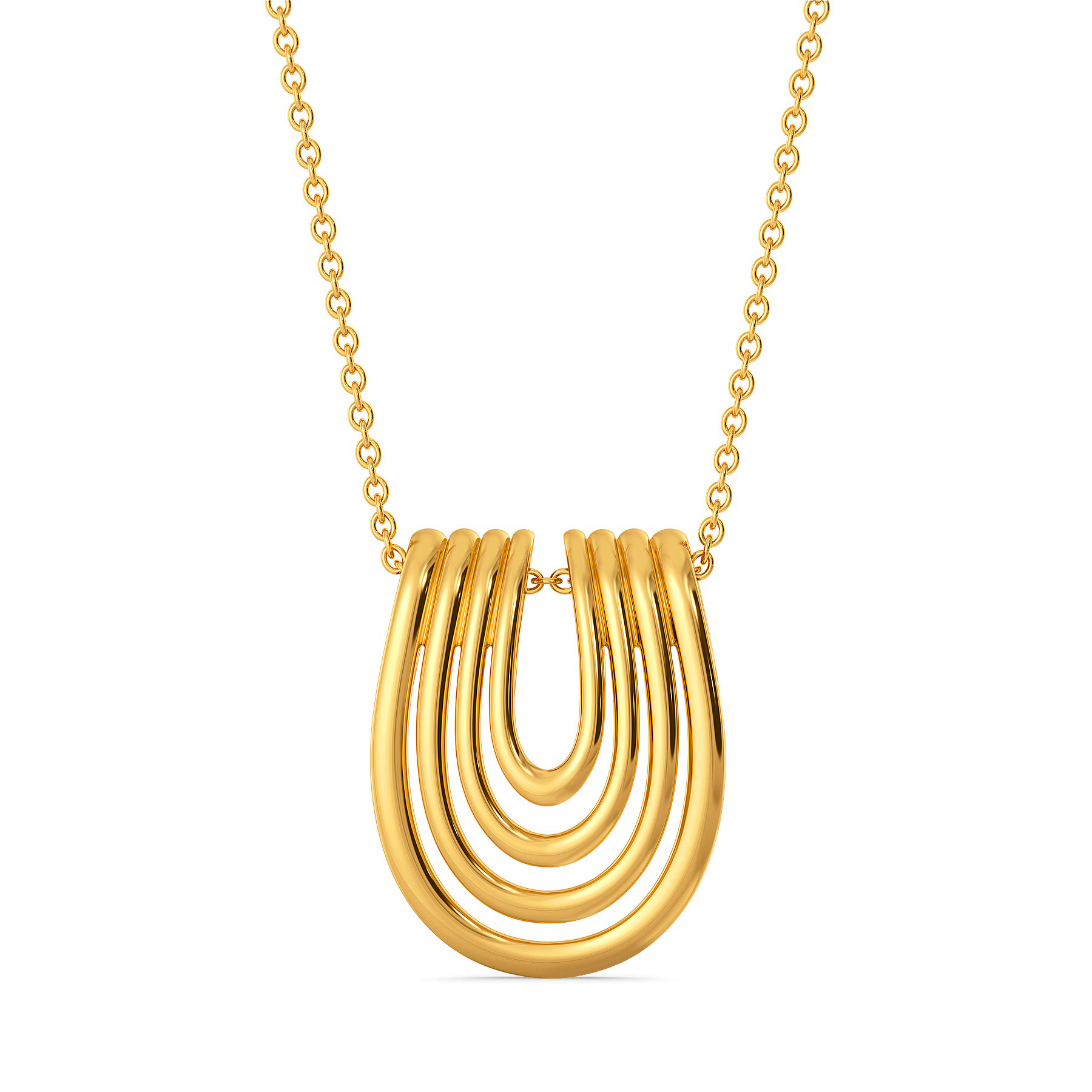 Back Tracks Gold Pendants