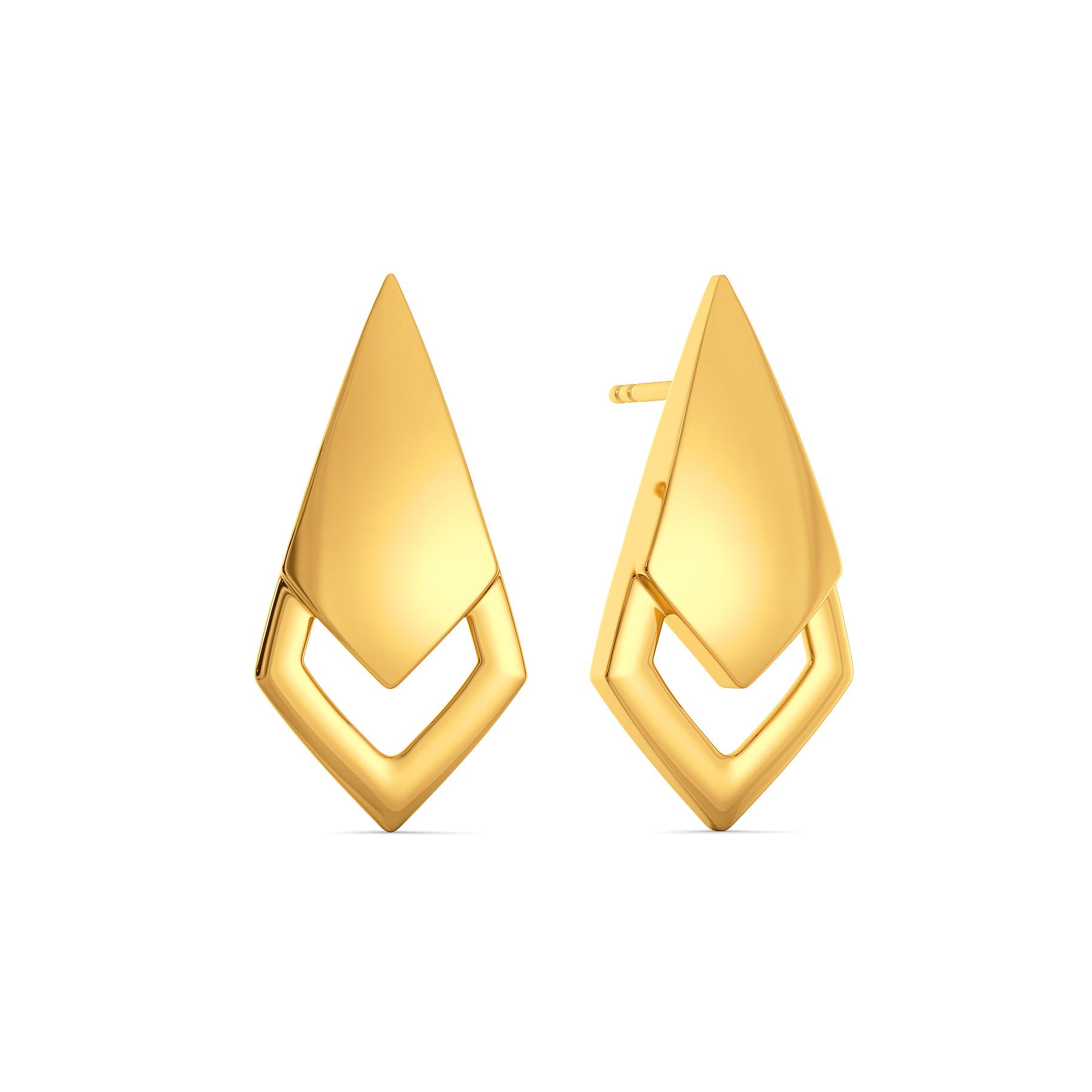 Curves on Fleek Gold Earrings