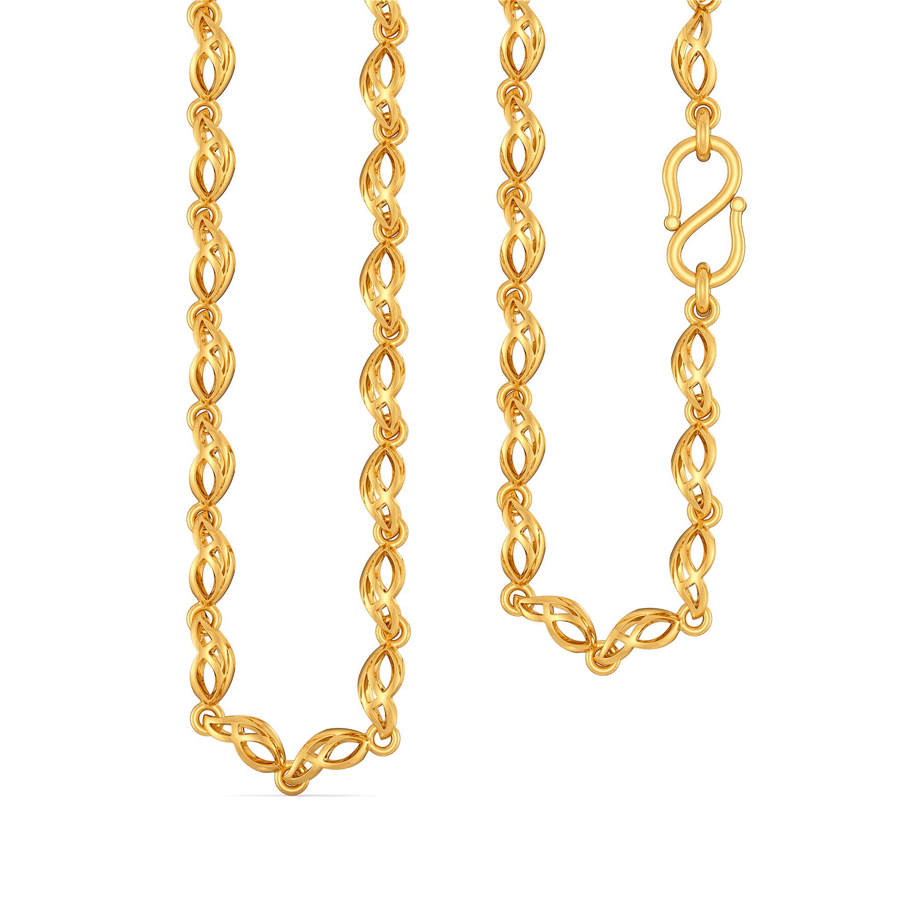 Mavey Wavy Gold Chains