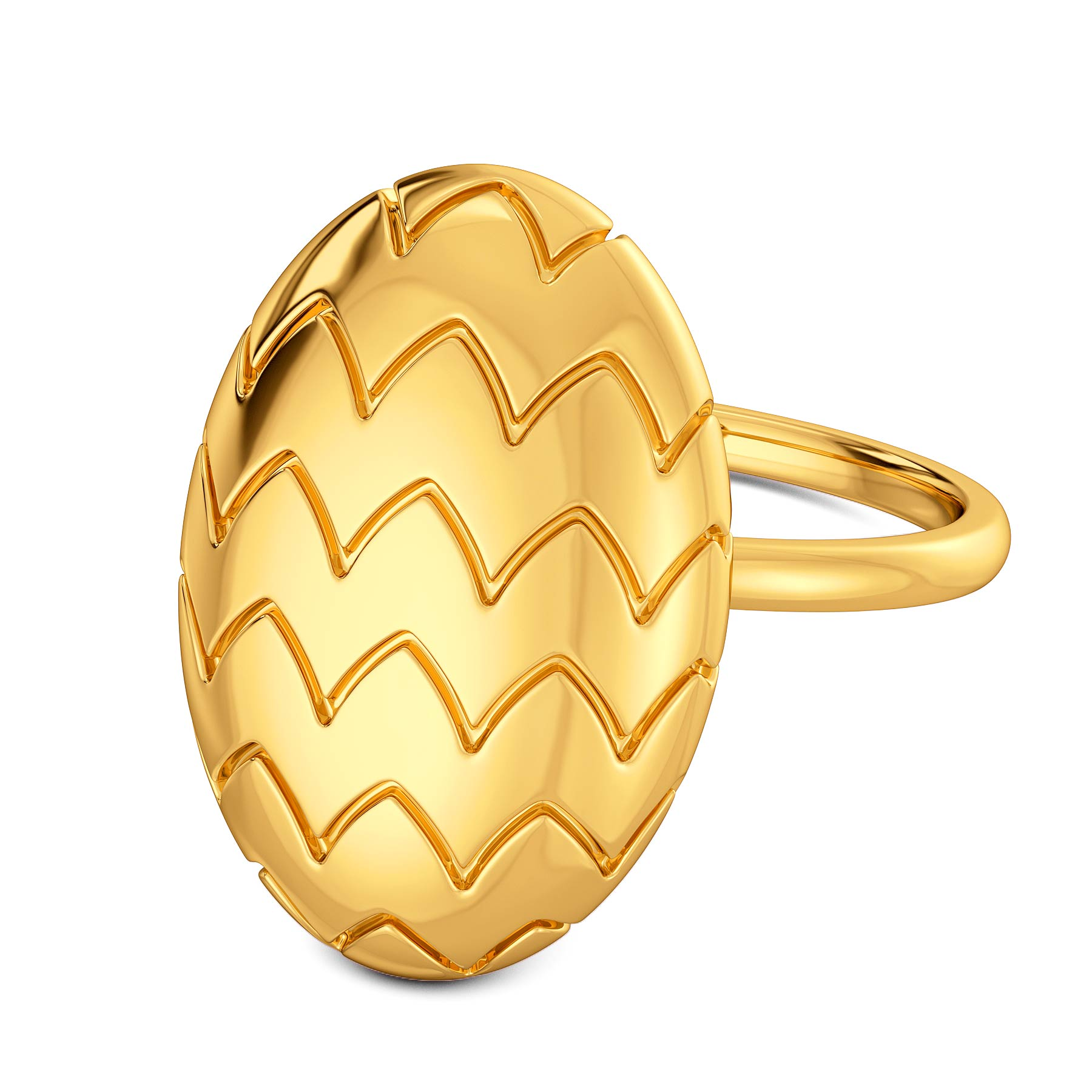 Offbeat Ovals Gold Rings
