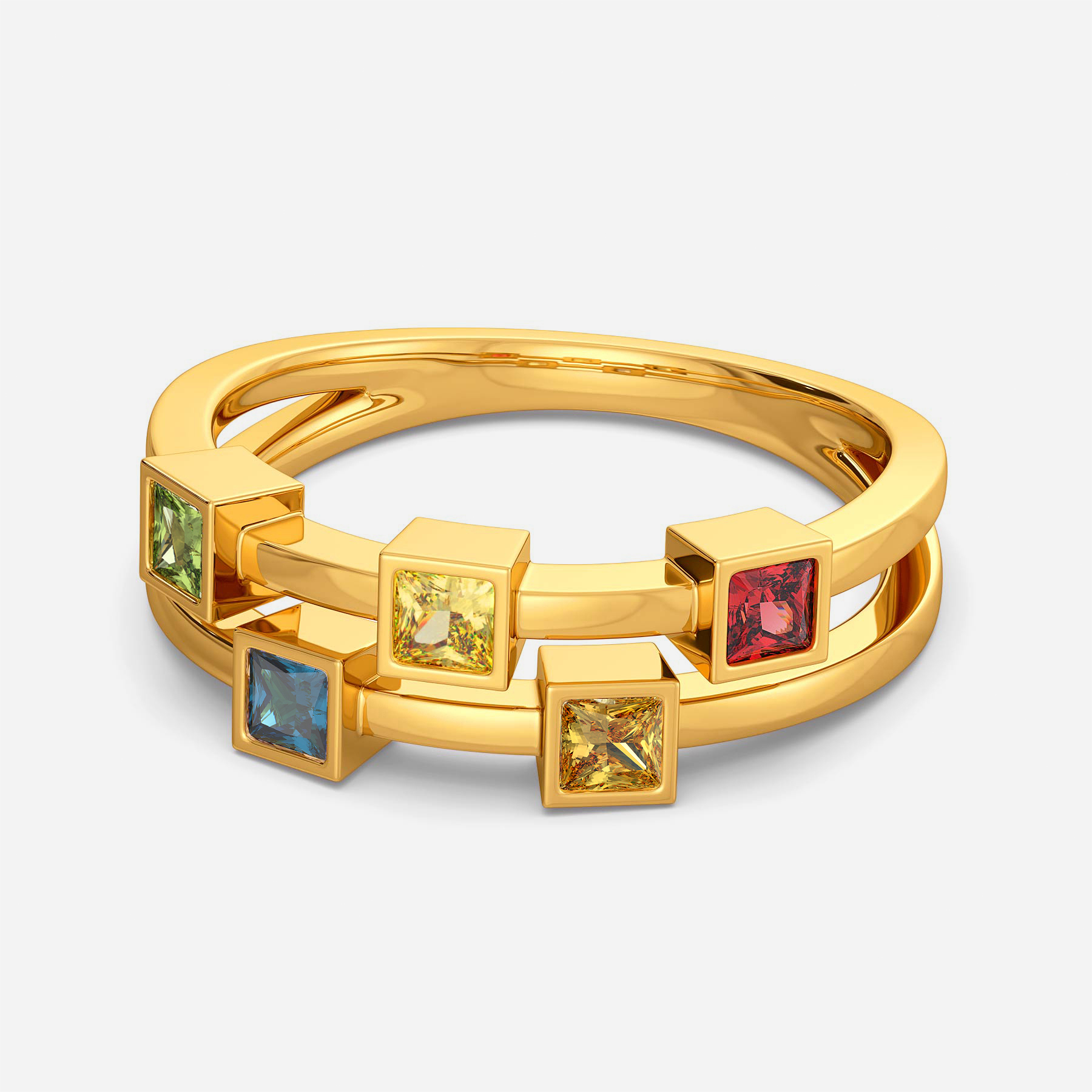 Colour Compliments Gemstone Rings