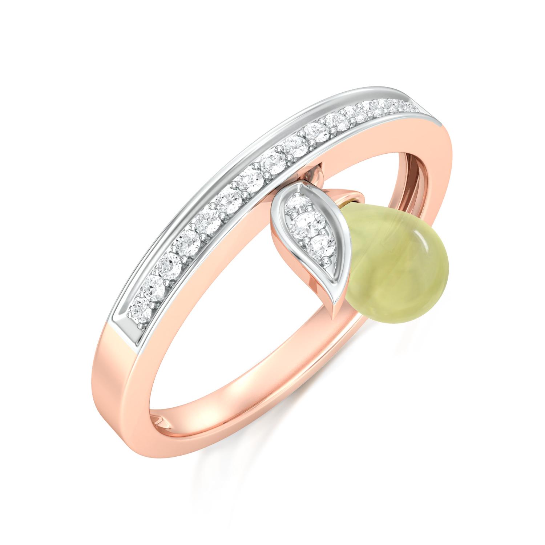 Lime Fleur Diamond Rings