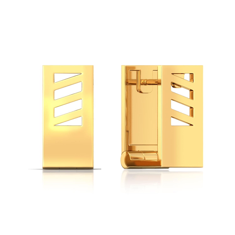 Bridge the Gap Gold Earrings