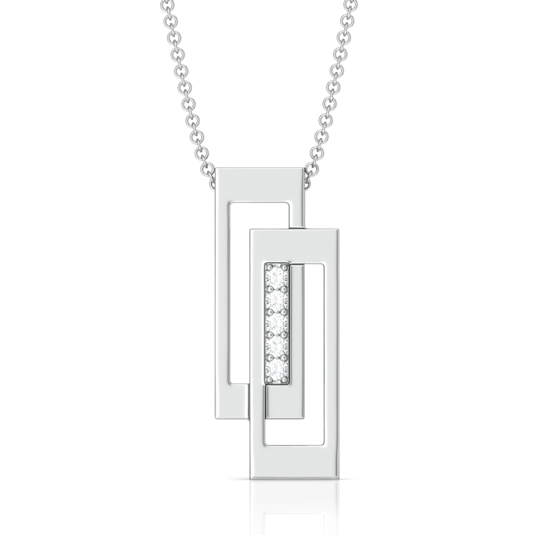 Perfect Intersect Diamond Pendants