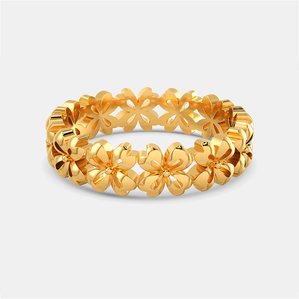 Floral Cluster Gold Rings