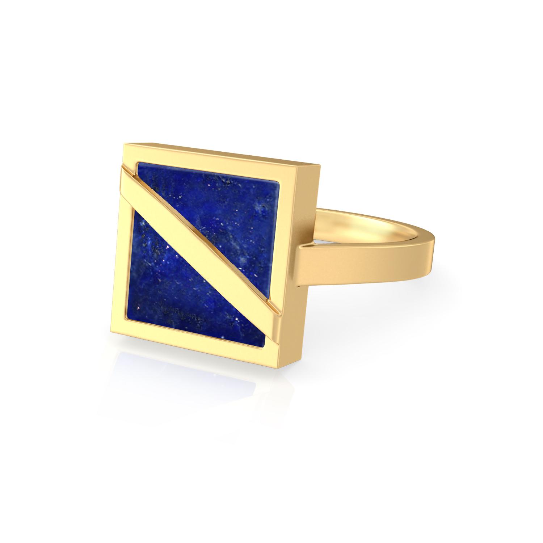 Nouveau Navy Gemstone Rings