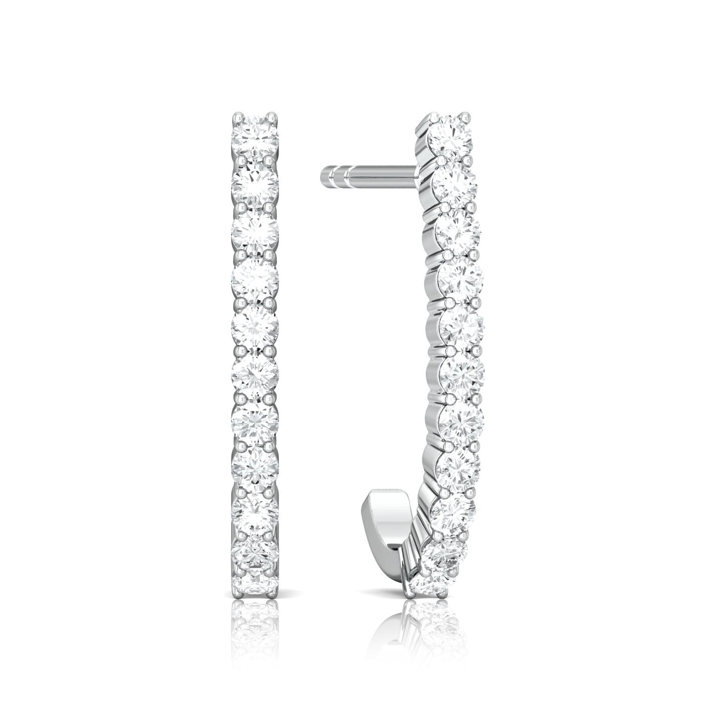 Line of Sparkle Diamond Earrings