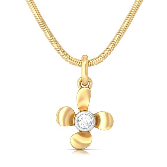 Sweet Floral Diamond Pendants