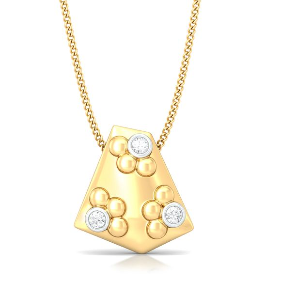 Eclectic polygon Diamond Pendants