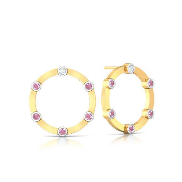 Ring of shimmer Diamond Earrings