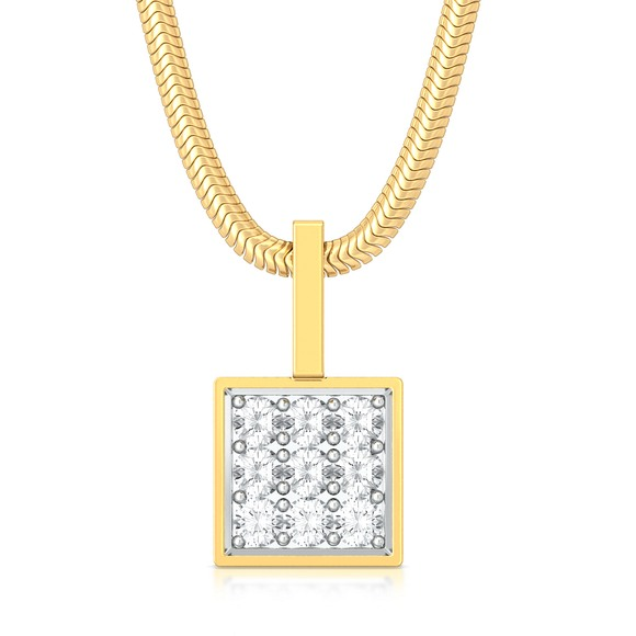 All Square Diamond Pendants