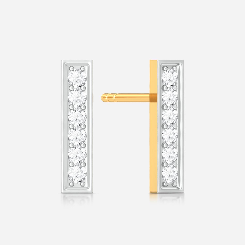 Linear equation Diamond Earrings
