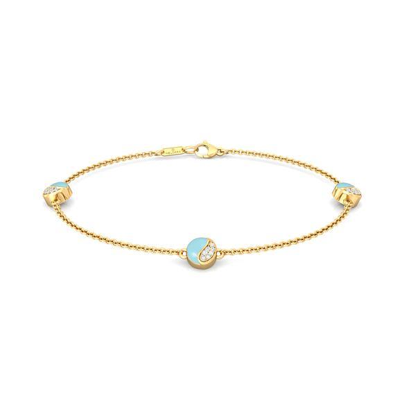 Wave blue Diamond Bracelets