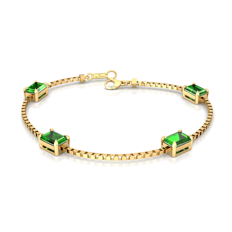 Green Pine Gemstone Bracelets