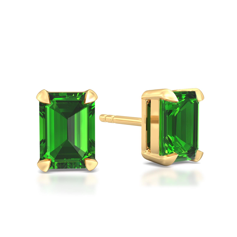 Green Pine Gemstone Earrings