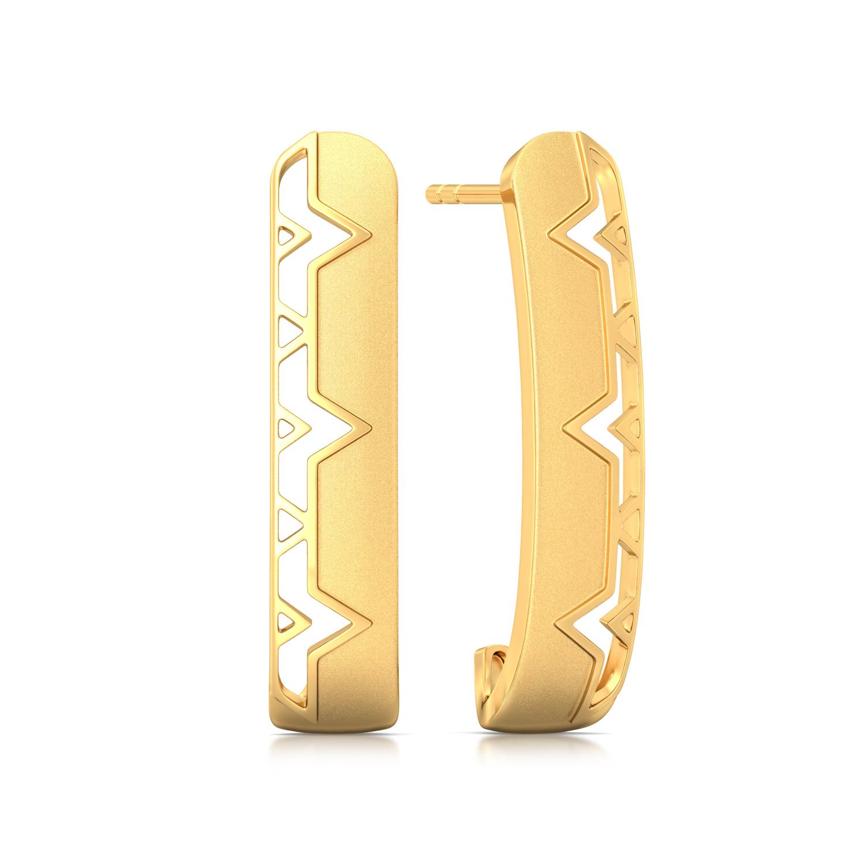 Interlace Gold Earrings