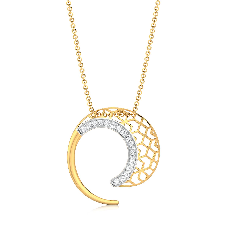 Net Twirl Diamond Pendants