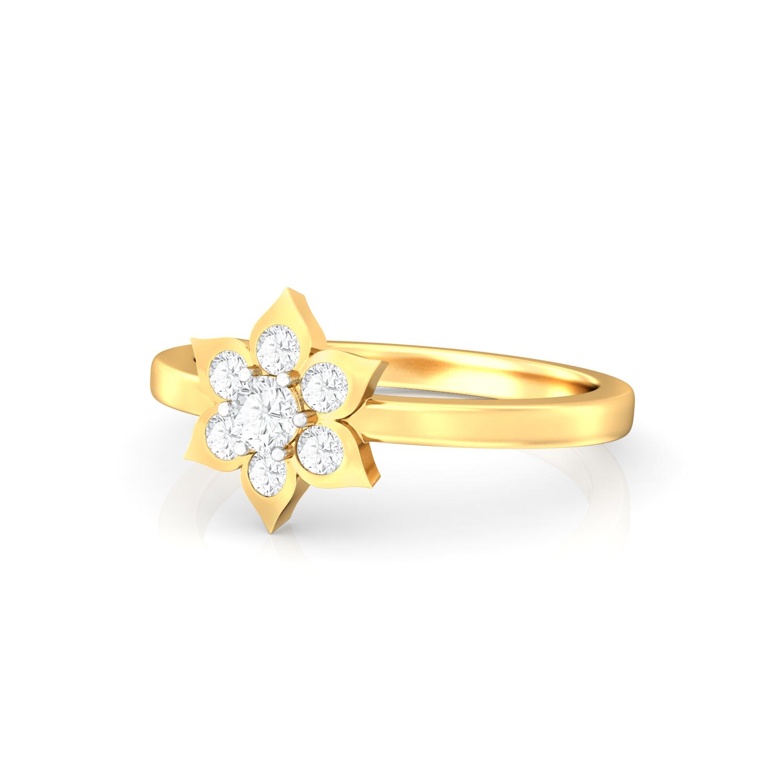 Blooming Star Diamond Rings