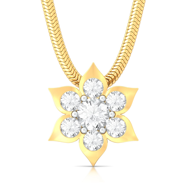 Blooming Star Diamond Pendants