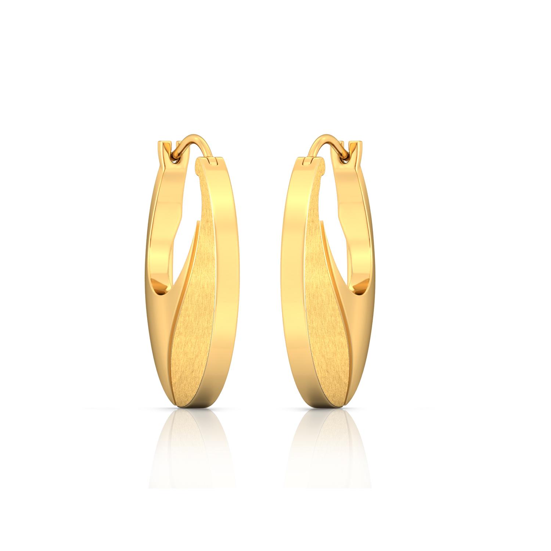Sunshine yellow Gold Earrings