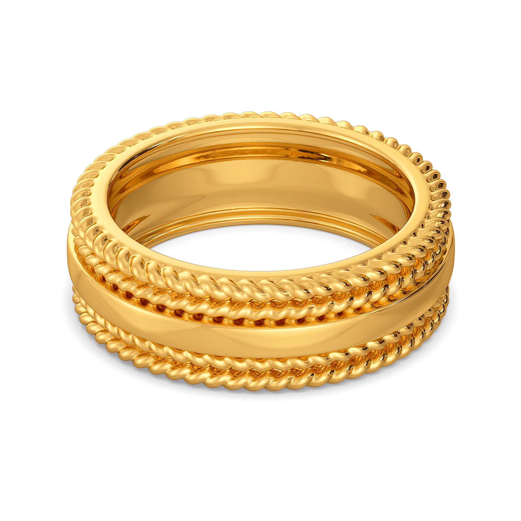 Classic Zest Gold Rings