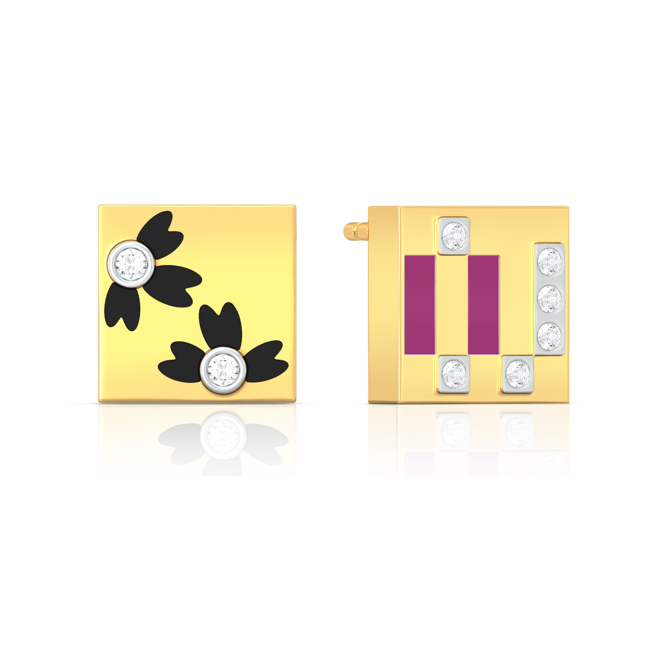 In contrast  Diamond Earrings