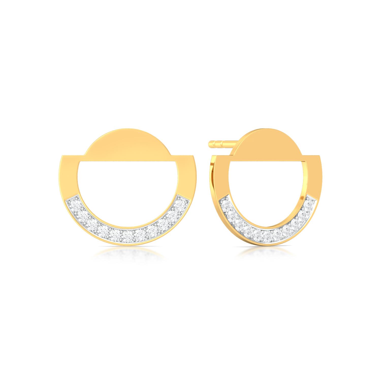 Tubular Slice Diamond Earrings