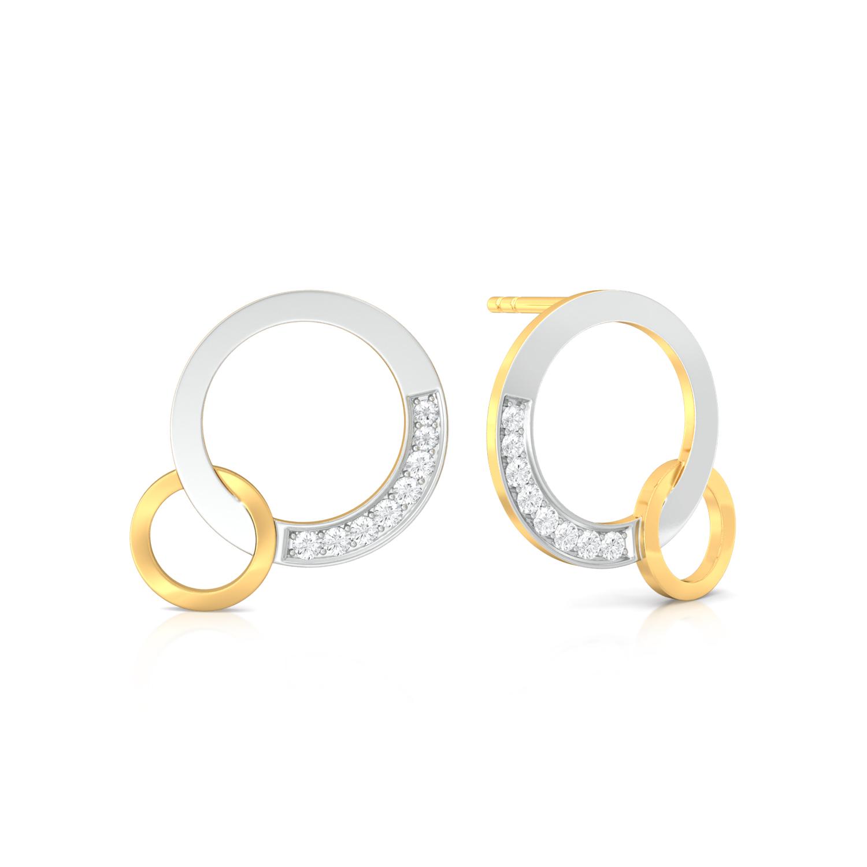 Swing-Ring Diamond Earrings